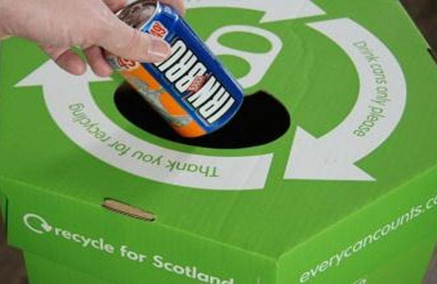 Ik recycle blik